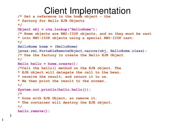 Client Implementation