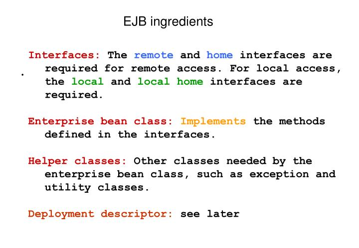 EJB ingredients