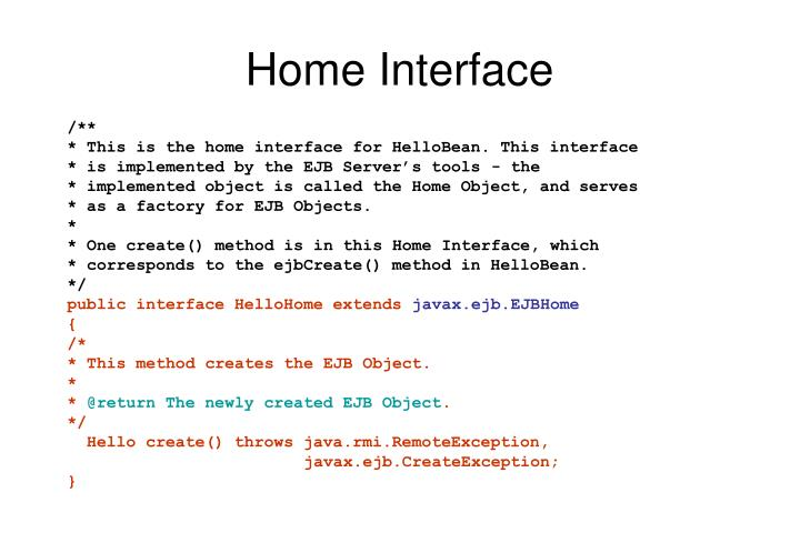Home Interface