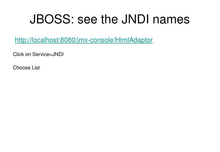 JBOSS: see the JNDI names