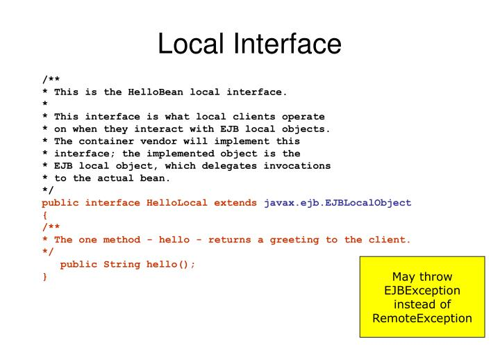 Local Interface