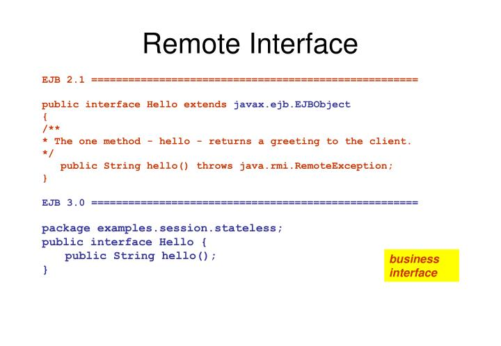 Remote Interface