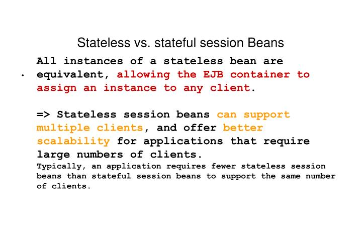 Stateless vs. stateful session Beans