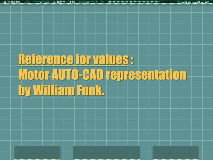 Reference for values