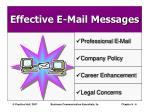effective e mail messages