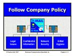 follow company policy