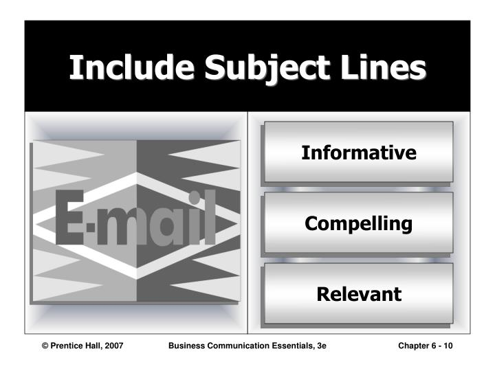 Include Subject Lines