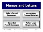 memos and letters