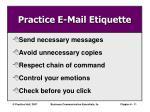 practice e mail etiquette
