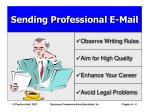 sending professional e mail