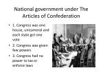 national government under the articles of confederation