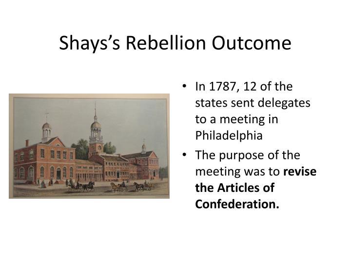 Shays's Rebellion Outcome