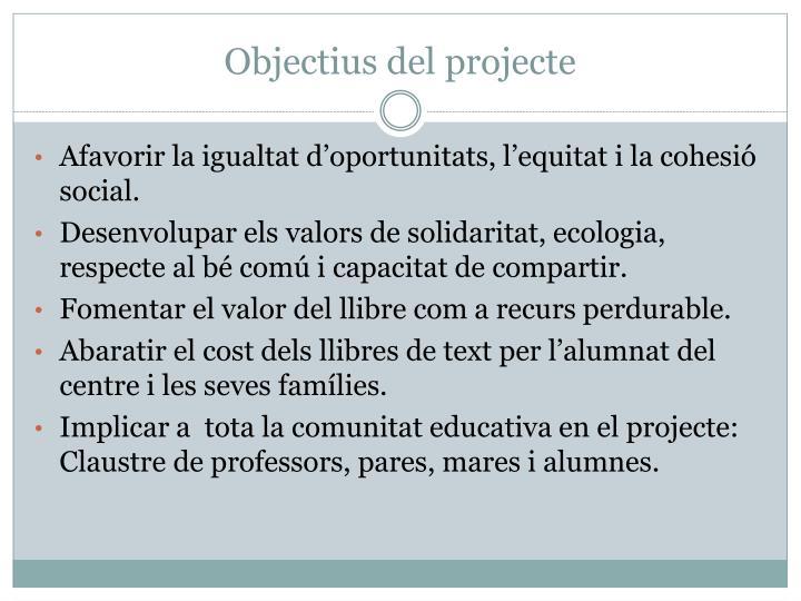 Objectius del projecte
