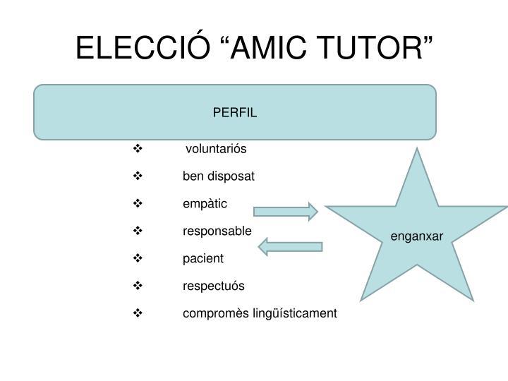 """ELECCIÓ """"AMIC TUTOR"""""""