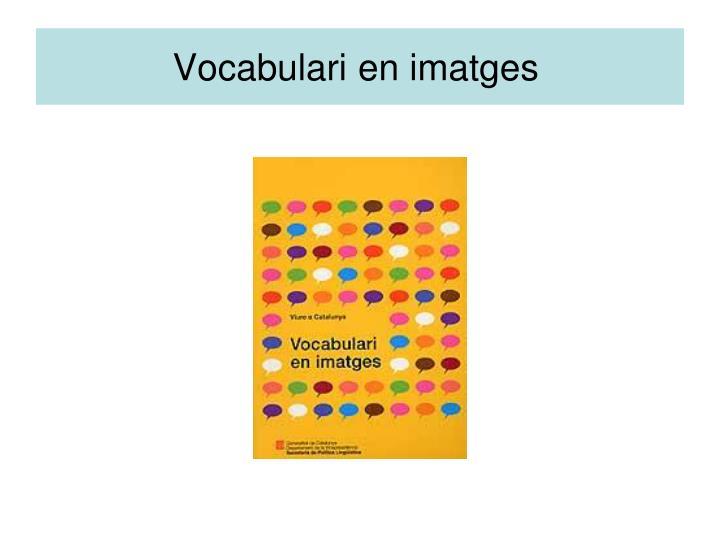 Vocabulari en imatges