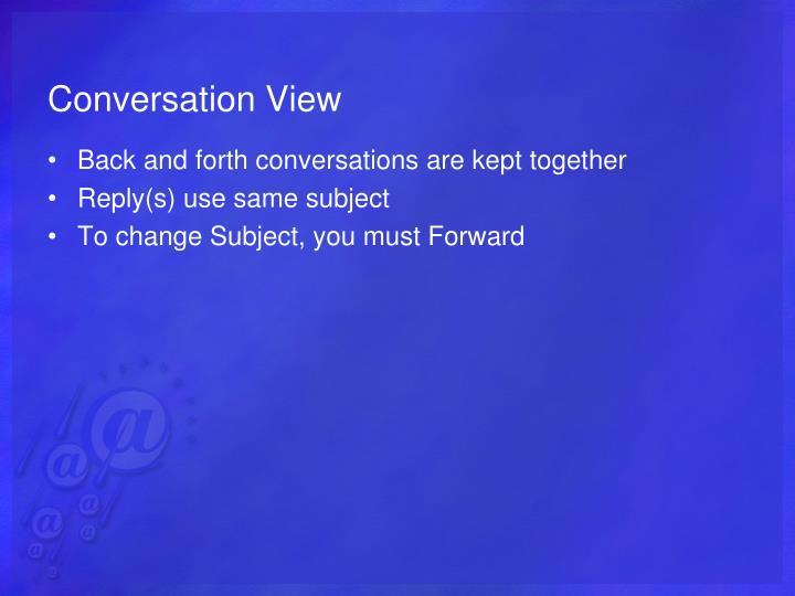 Conversation View