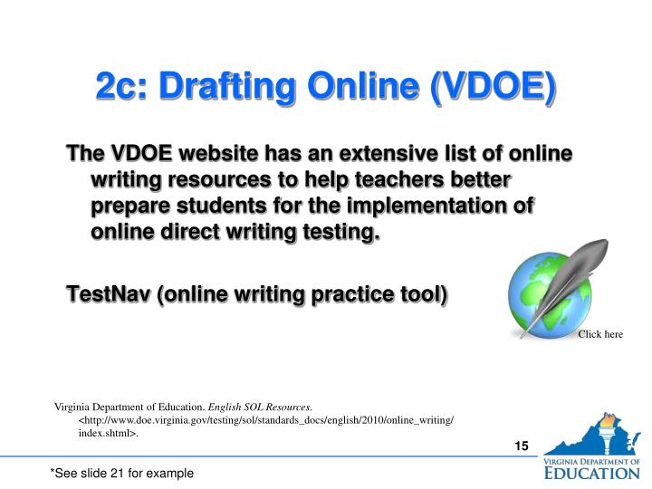 2c: Drafting Online (VDOE)