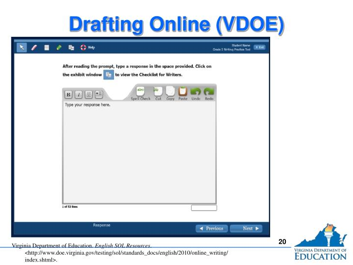 Drafting Online (VDOE)