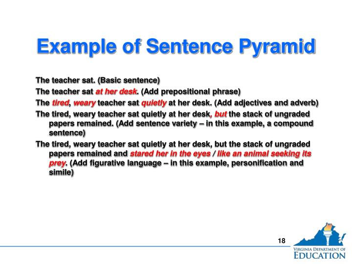 Example of Sentence Pyramid