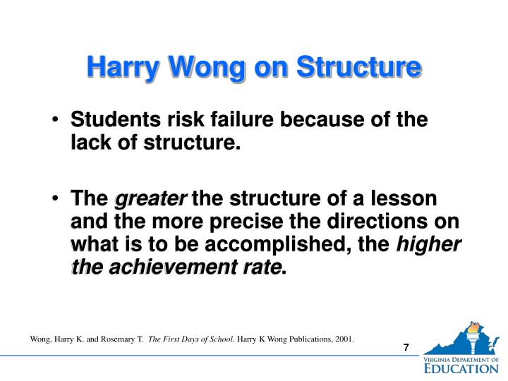 Harry Wong on Structure