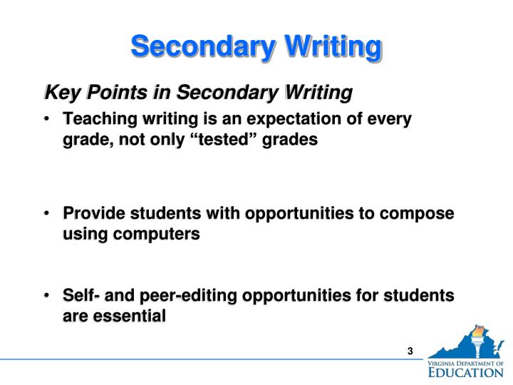 Secondary writing1
