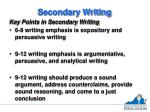 secondary writing2