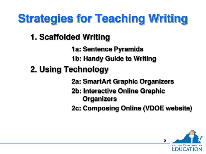 Strategies for Teaching Writing