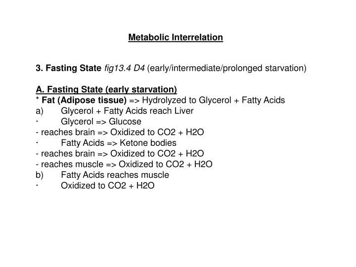 Metabolic Interrelation