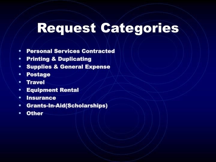 Request Categories