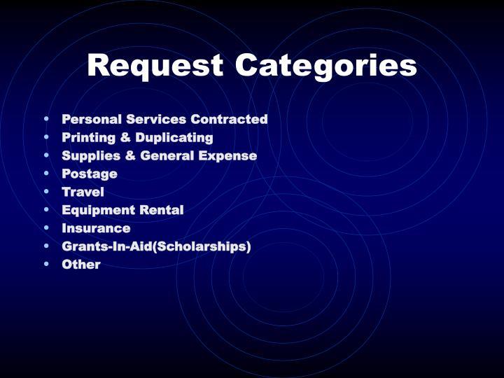 Request Categories