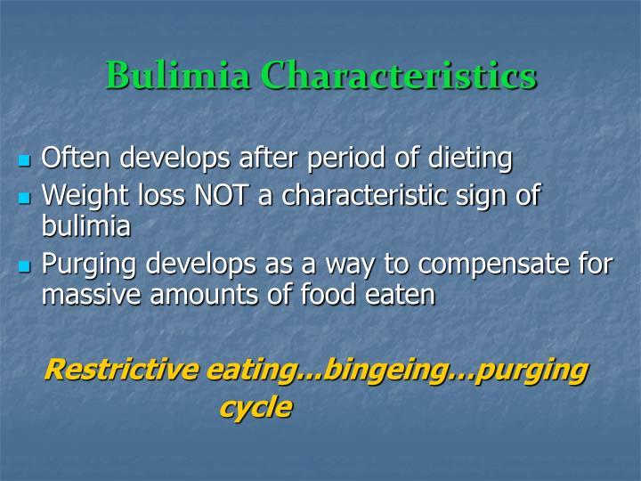 Bulimia Characteristics