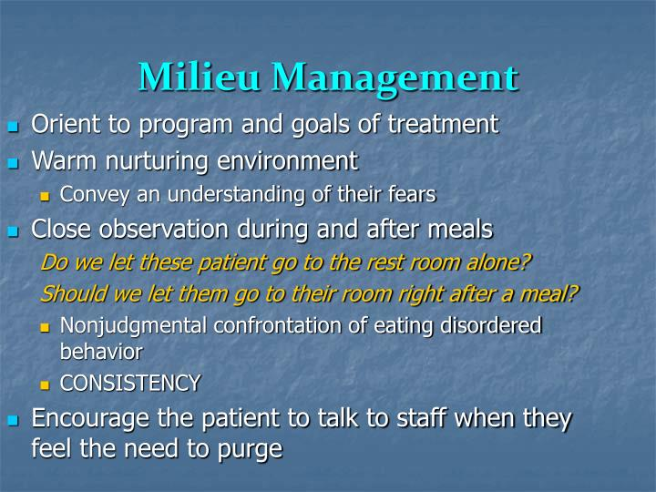 Milieu Management