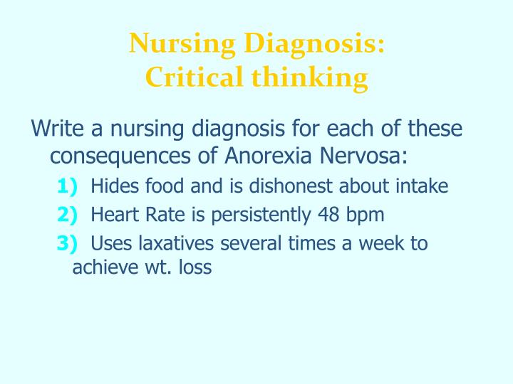 Nursing Diagnosis: