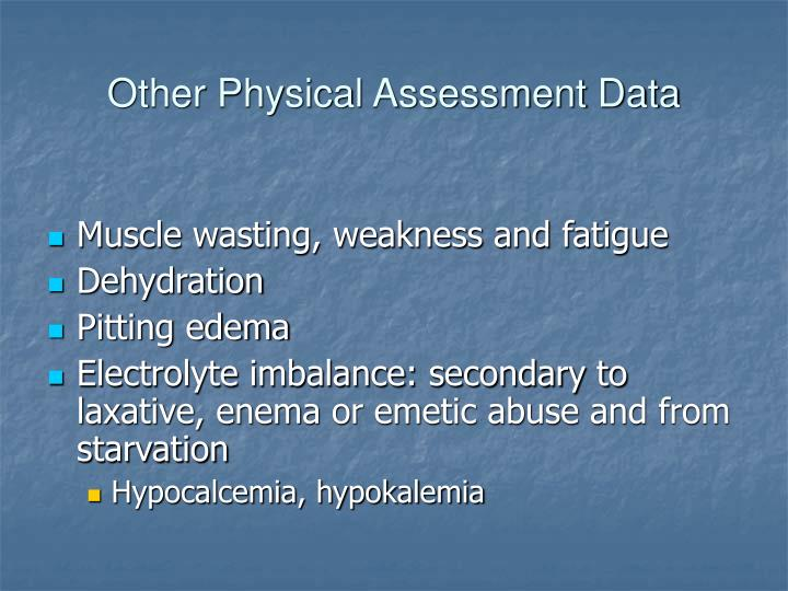 Other Physical Assessment Data