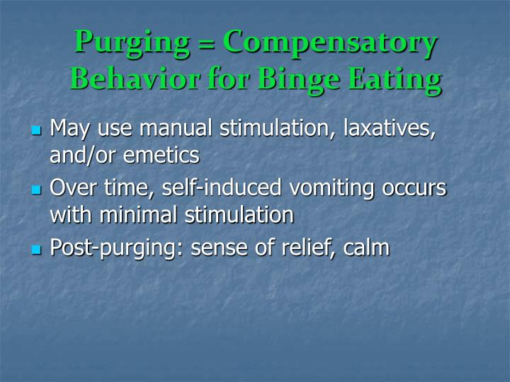 Purging = Compensatory Behavior for Binge Eating