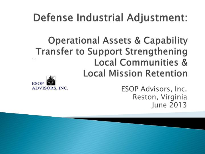 Esop advisors inc reston virginia june 2013