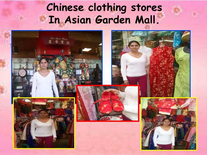Chinese clothing stores