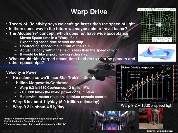 Michael Okuda's warp scale.