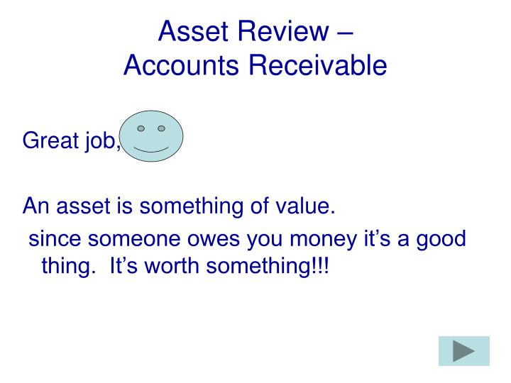 Asset Review –