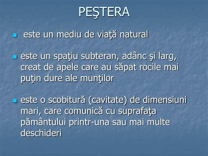 PEŞTERA