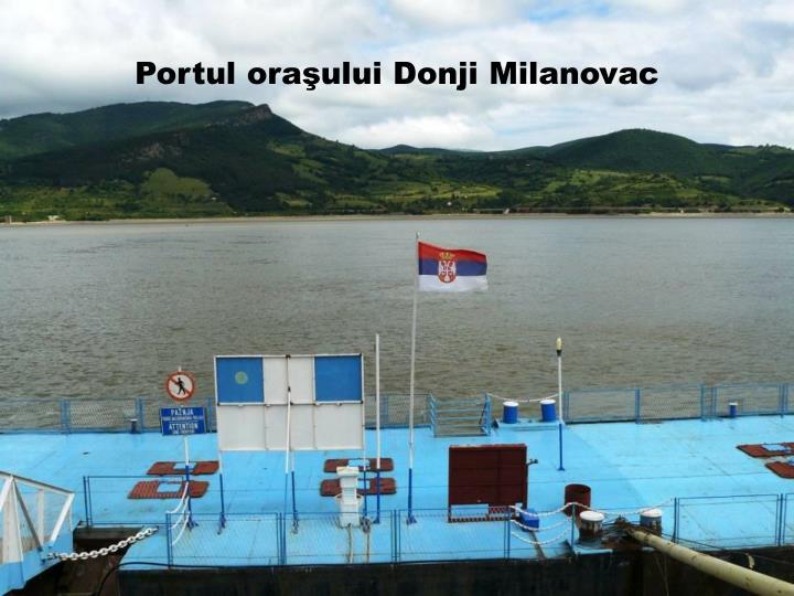 Portul oraşului Donji Milanovac