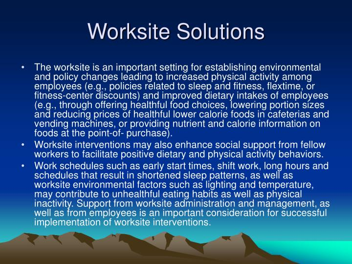 Worksite Solutions