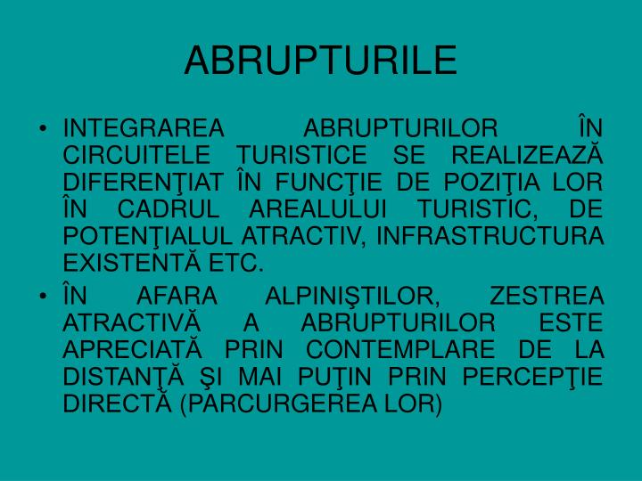 ABRUPTURILE