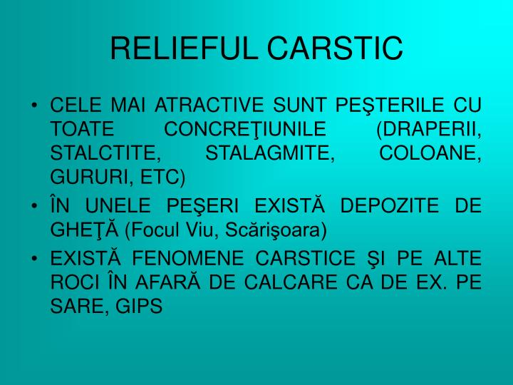 RELIEFUL CARSTIC