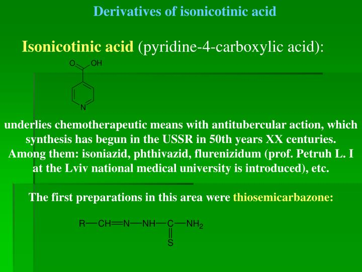 Derivatives of isonicotinic acid