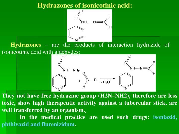 Hydrazones of isonicotinic acid: