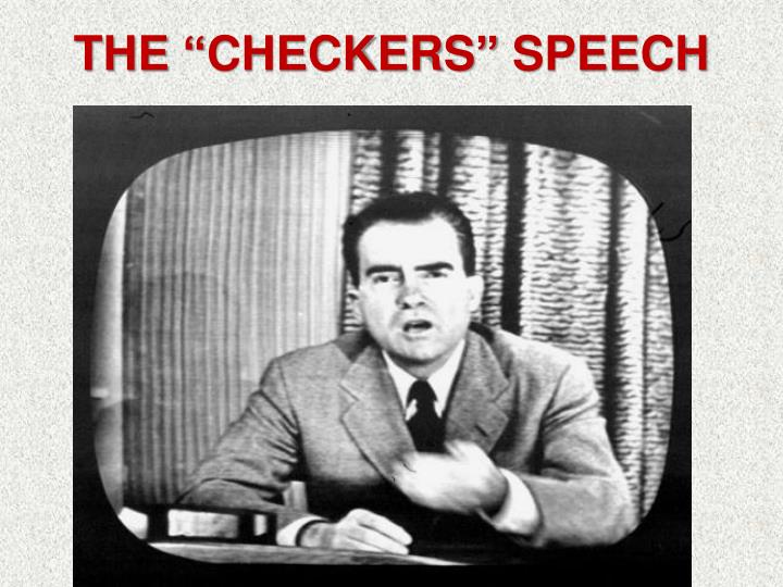 "The ""Checkers"" Speech"