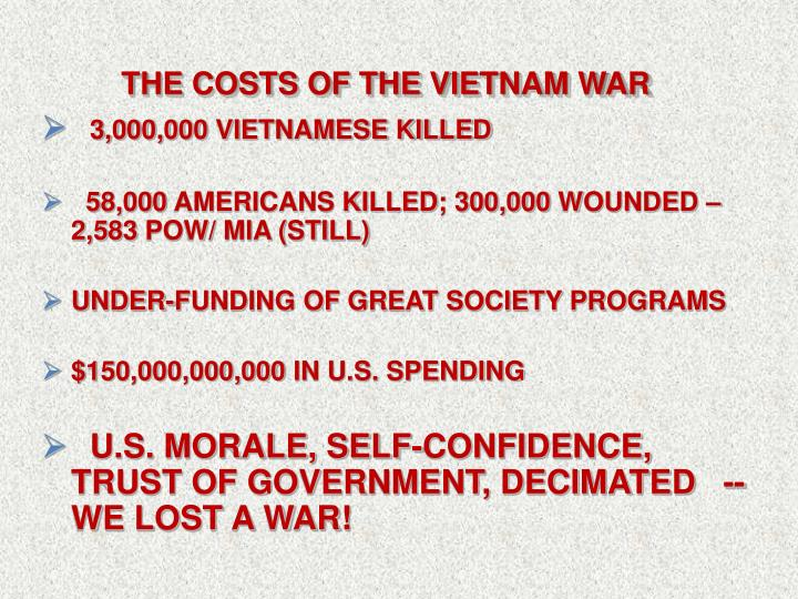 The Costs OF THE VIETNAM WAR