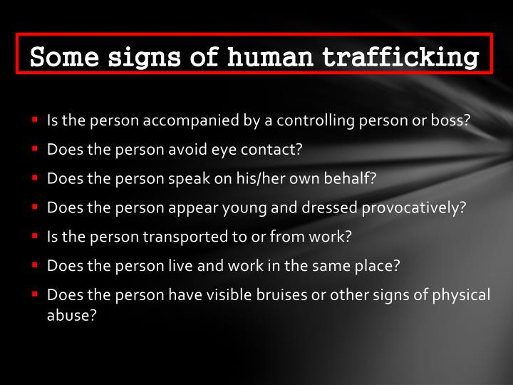 Some signs of human