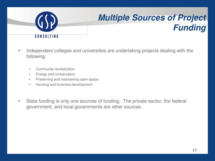 Multiple Sources of Project Funding